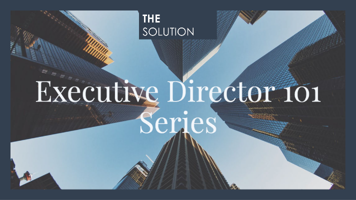 Executive Director 101 Series: What Executive Directors Need to Know About Sponsorship and Fundraising